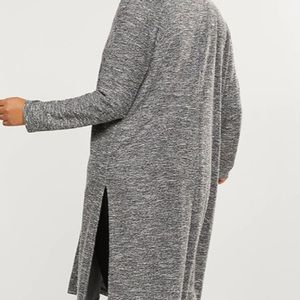 Grey/black Knee length cardigan